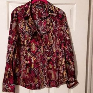 New york & co multi color blouse